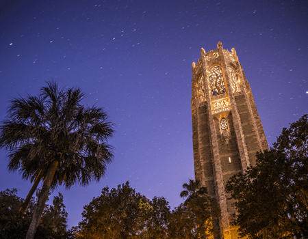 Bok Tower at Night by Chad Baumer