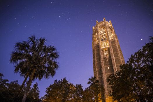 Bok Tower at Night by Chad Baumer