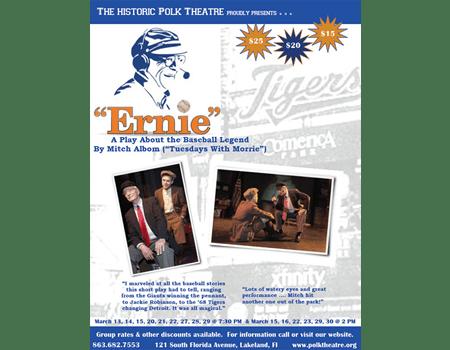 Ernie, a play by Mitch Albom