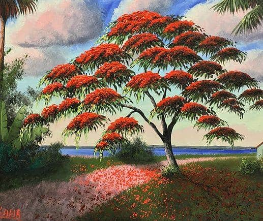 Red Coral Painting