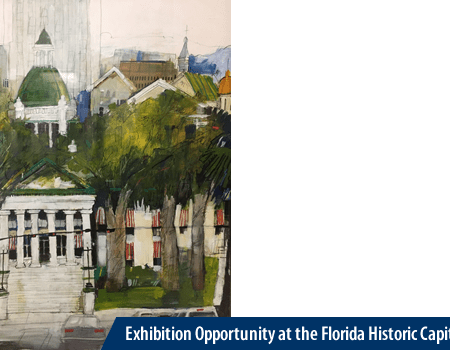 Painting of the Florida Historic Capitol (Courtesy of Dennis Campay, 2005)