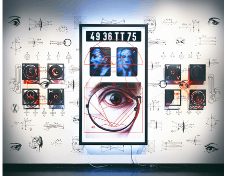 RICHARD HEIPP, CULTURAL STRABISMUS: VISION FAITH: SEEING BELIEVING, 1999, IMAGE COURTESY OF THE ARTIST.