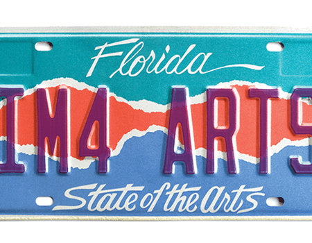 Florida's State of the Arts License Plate