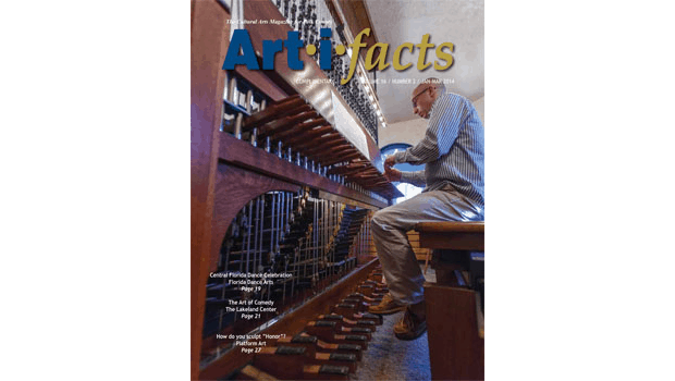 Photo by Mike Potthast of Geert de Hollander playing the Bok Tower Carillon