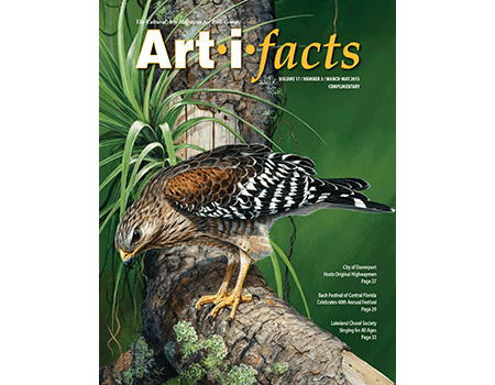 """Front cover image is a painting by Stephen Koury entitled """"Forest Hunter."""""""
