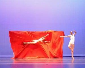dancer in fabric