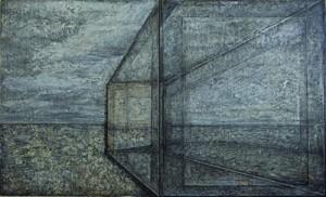 "Michiko Fujii Fowler, ""Solid Paradox,"" 2015, mixed media on canvas."