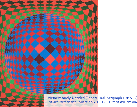 Victor Vasarely, Untitled (Sphere), n.d., Serigraph (184/250), Polk Museum of Art Permanent Collection 2001.19.3, Gift of William and Norma Roth