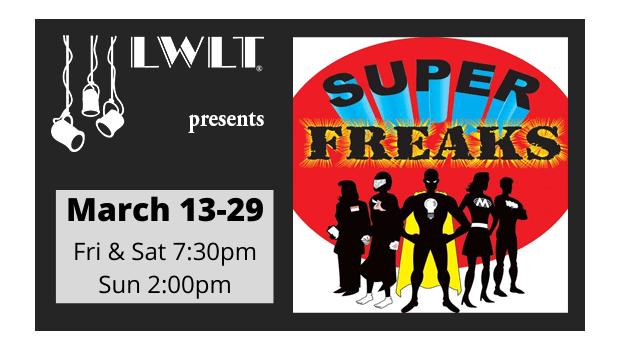 Lake Wales Little Theatre Logo March 13-29 Super Freaks