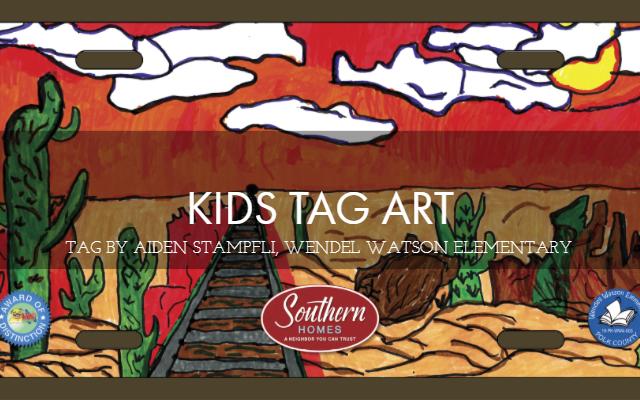 Kids Tag Art Aiden Stampfli Wendel Watson Elementary