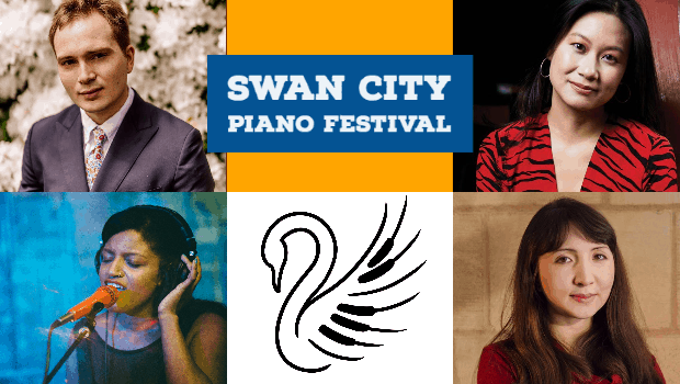 Swan City Piano Festival Graphic
