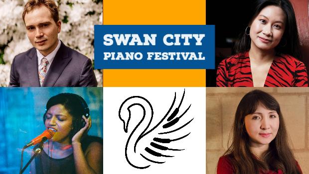 Swan City Piano Festival Graphic