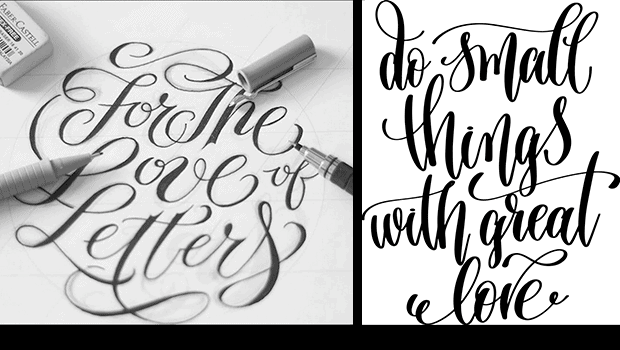 Examples of Hand Lettering