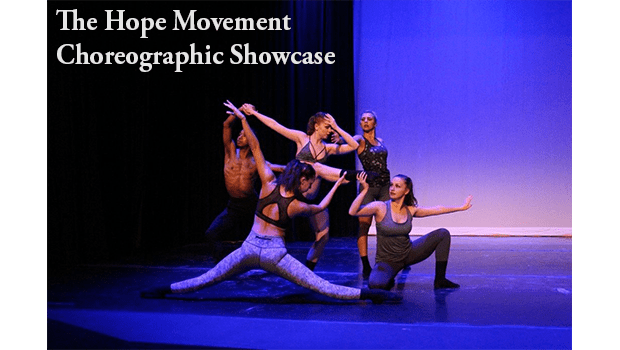 Dancers captioned The Hope Movement Choreographic Showcase