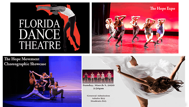 The Hope Movement Dance Weekend Images and Florida Dance Theatre logo