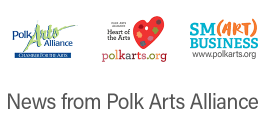 Polk Arts Alliance Logo, Heart of the Arts Logo (Pallette), Smart Business logo
