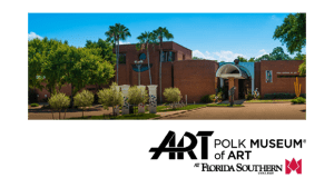 Polk Museum of Art Building and Logo