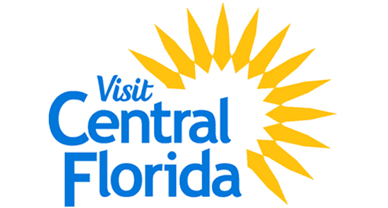 The VCF Sun logo is a link to Visit Central Florida website