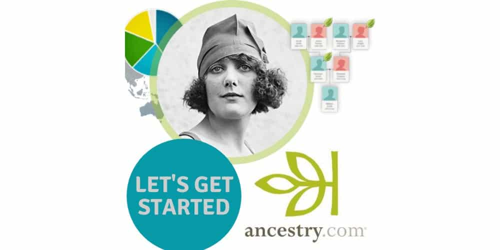 Old photo of woman. Let's Get Started - ancestry.com