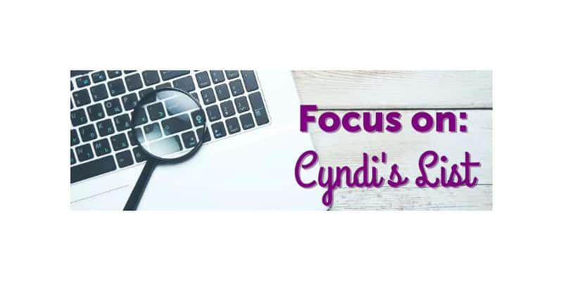 Magnifying Glass. Text, Focus on Cyndi's List