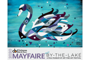 Barbara Rush's swan image Infused with Grace was selected as the poster and t-shirt design for Mayfaire 2020