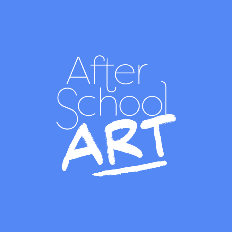 After School Art Blue Background