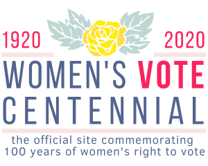 1920-2020 Women's Vote Centennial Logo