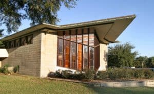 Danforth Chapel built in 1955 at Florida Southern College