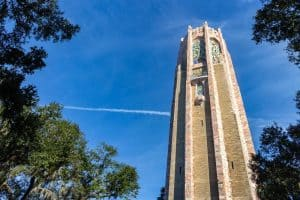 Bok Tower Carillon with blue sky