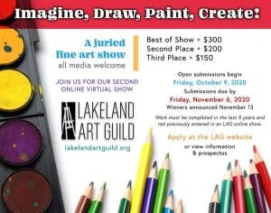 Imagine, Draw, Paint, Create Lakeland Art Guild Juried Art Show - Colored pencils.