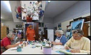 Sharon Creedon teaching a class at Florida Wildflower Studios