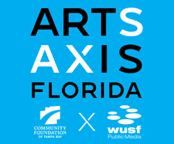 Arts Axis Florida Logos of Community Foundation of Tampa Bay & WUSF