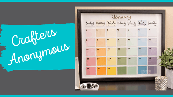 Crafters Anonymous: Paint Chip Calendar