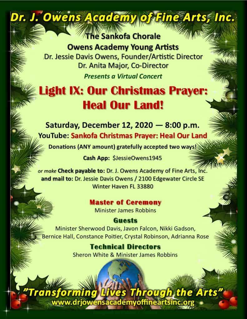 Owens Academy Christmas Concert Flyer
