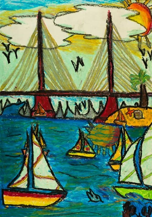 Ricardo Figueroa, Sailing, 2019 Polk Museum of Art Purchase Award.