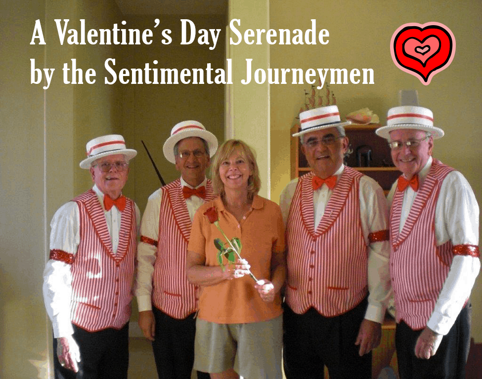 Barbershop Quartet for a Valentine's Day Serenade by the Sentimental Journeymen