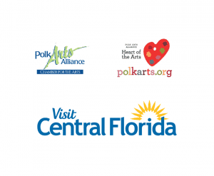 Polk Arts Alliance and Visit Central Florida logos