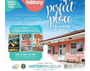 Lake Wales History Museum and 3 small movie posters