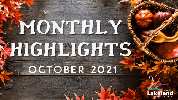 Orange leaves on gray background Monthly Highlights October 2021